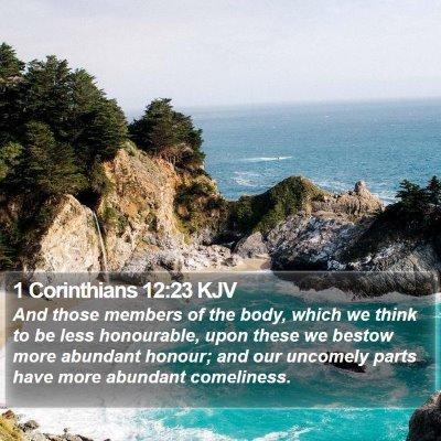 1 Corinthians 12:23 KJV Bible Verse Image
