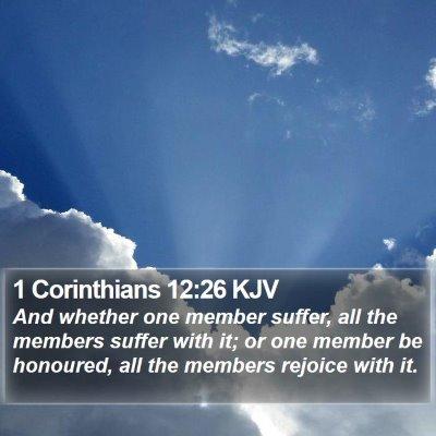 1 Corinthians 12:26 KJV Bible Verse Image