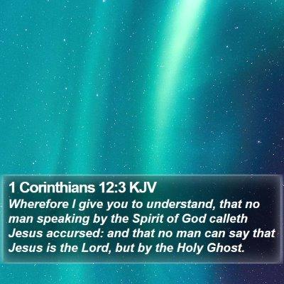 1 Corinthians 12:3 KJV Bible Verse Image