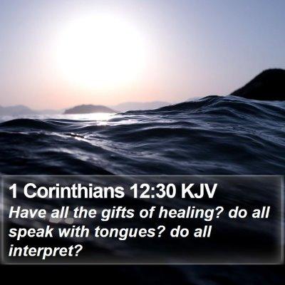 1 Corinthians 12:30 KJV Bible Verse Image