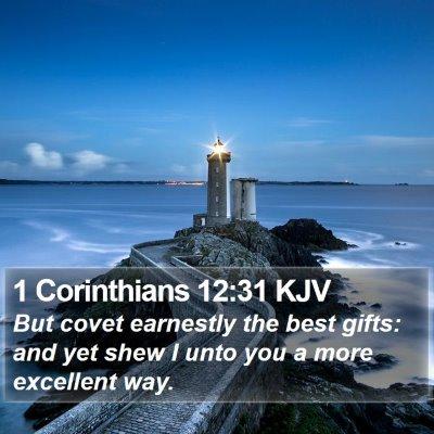 1 Corinthians 12:31 KJV Bible Verse Image