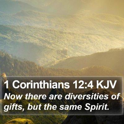 1 Corinthians 12:4 KJV Bible Verse Image