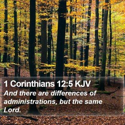 1 Corinthians 12:5 KJV Bible Verse Image
