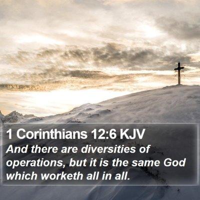1 Corinthians 12:6 KJV Bible Verse Image