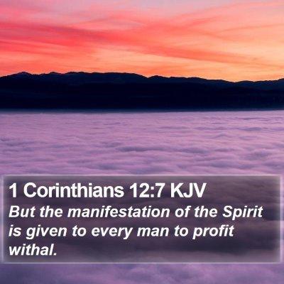1 Corinthians 12:7 KJV Bible Verse Image