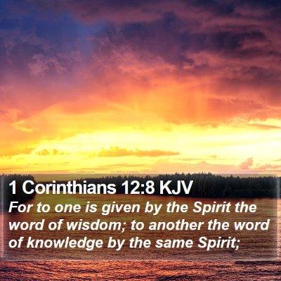 1 Corinthians 12:8 KJV Bible Verse Image