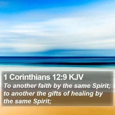 1 Corinthians 12:9 KJV Bible Verse Image