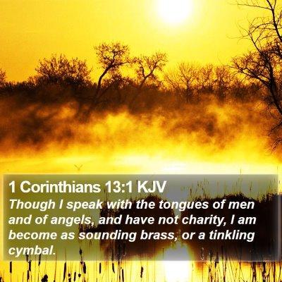 1 Corinthians 13:1 KJV Bible Verse Image