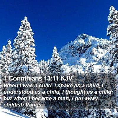 1 Corinthians 13:11 KJV Bible Verse Image