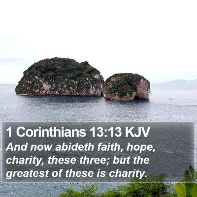 1 Corinthians 13:13 KJV Bible Verse Image
