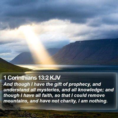 1 Corinthians 13:2 KJV Bible Verse Image
