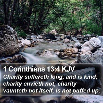 1 Corinthians 13:4 KJV Bible Verse Image