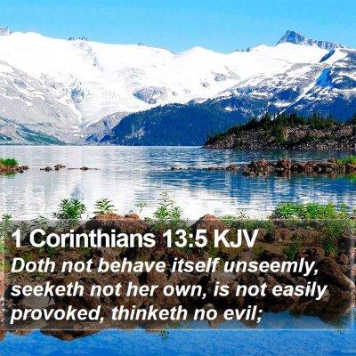 1 Corinthians 13:5 KJV Bible Verse Image