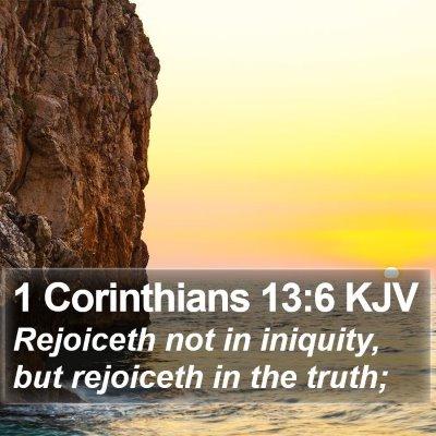 1 Corinthians 13:6 KJV Bible Verse Image