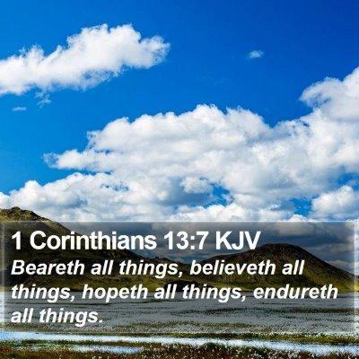 1 Corinthians 13:7 KJV Bible Verse Image