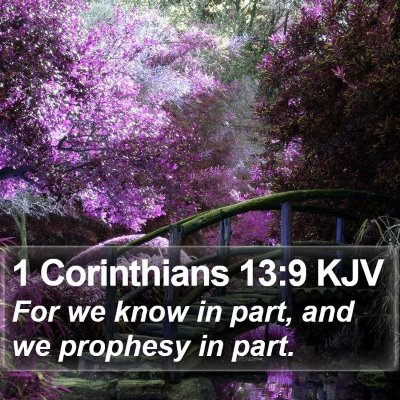 1 Corinthians 13:9 KJV Bible Verse Image