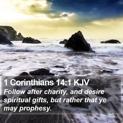 1 Corinthians 14:1 KJV Bible Verse Image