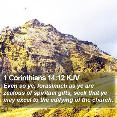 1 Corinthians 14:12 KJV Bible Verse Image
