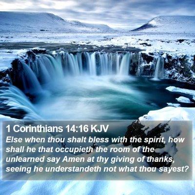1 Corinthians 14:16 KJV Bible Verse Image