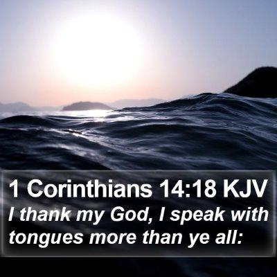 1 Corinthians 14:18 KJV Bible Verse Image