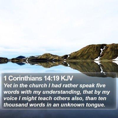 1 Corinthians 14:19 KJV Bible Verse Image