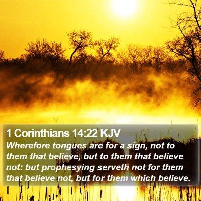 1 Corinthians 14:22 KJV Bible Verse Image