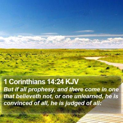 1 Corinthians 14:24 KJV Bible Verse Image