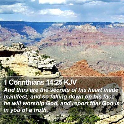 1 Corinthians 14:25 KJV Bible Verse Image