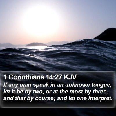1 Corinthians 14:27 KJV Bible Verse Image