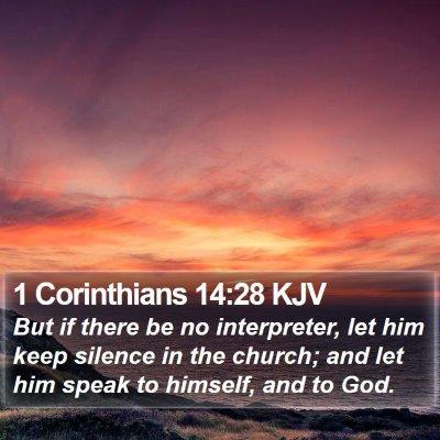 1 Corinthians 14:28 KJV Bible Verse Image