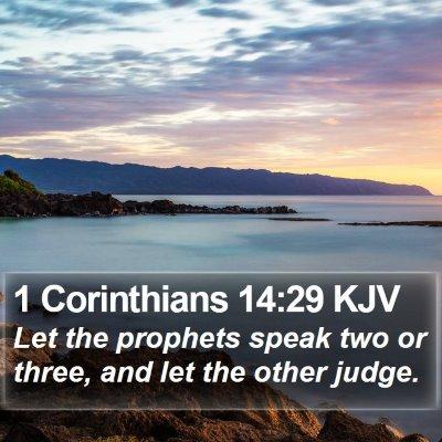 1 Corinthians 14:29 KJV Bible Verse Image