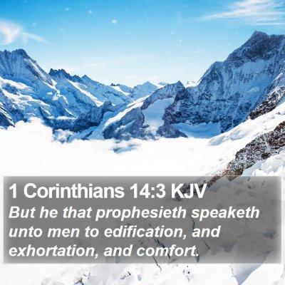 1 Corinthians 14:3 KJV Bible Verse Image