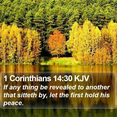 1 Corinthians 14:30 KJV Bible Verse Image
