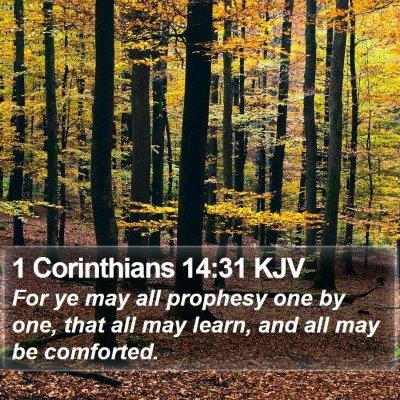 1 Corinthians 14:31 KJV Bible Verse Image