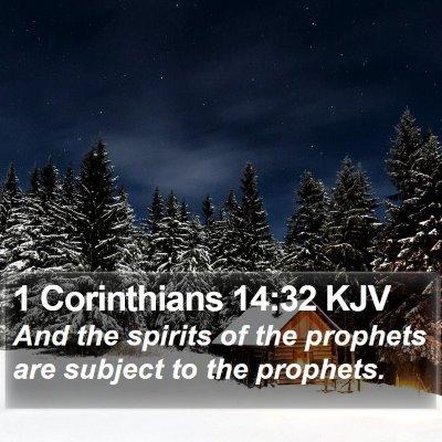 1 Corinthians 14:32 KJV Bible Verse Image