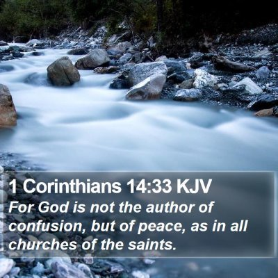 1 Corinthians 14:33 KJV Bible Verse Image