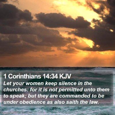 1 Corinthians 14:34 KJV Bible Verse Image