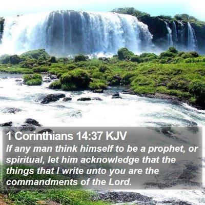 1 Corinthians 14:37 KJV Bible Verse Image