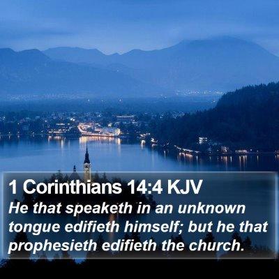 1 Corinthians 14:4 KJV Bible Verse Image