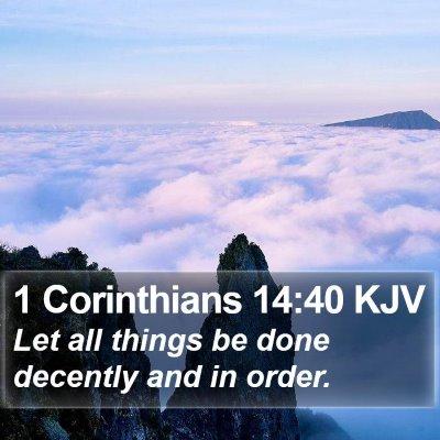 1 Corinthians 14:40 KJV Bible Verse Image