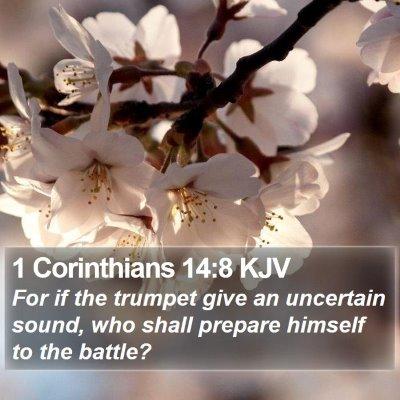 1 Corinthians 14:8 KJV Bible Verse Image