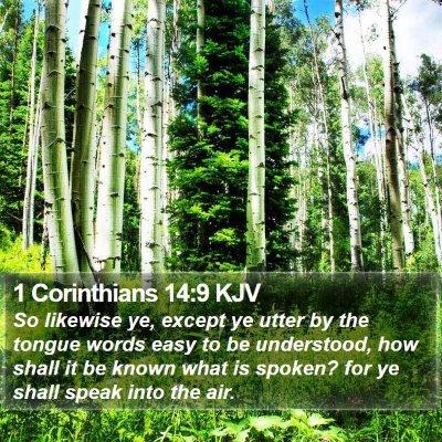1 Corinthians 14:9 KJV Bible Verse Image