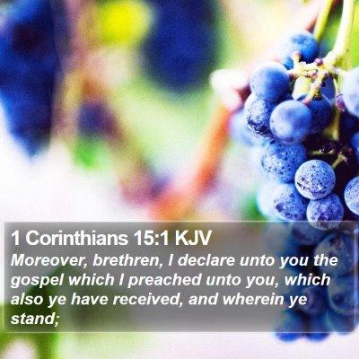 1 Corinthians 15:1 KJV Bible Verse Image