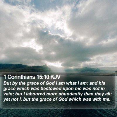 1 Corinthians 15:10 KJV Bible Verse Image