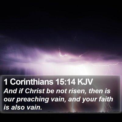 1 Corinthians 15:14 KJV Bible Verse Image