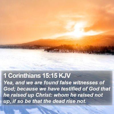 1 Corinthians 15:15 KJV Bible Verse Image