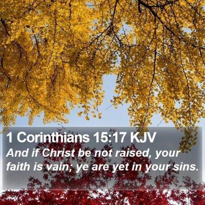 1 Corinthians 15:17 KJV Bible Verse Image