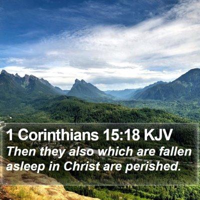 1 Corinthians 15:18 KJV Bible Verse Image