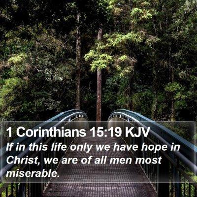 1 Corinthians 15:19 KJV Bible Verse Image
