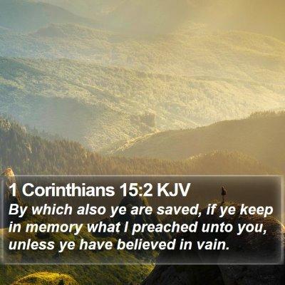 1 Corinthians 15:2 KJV Bible Verse Image